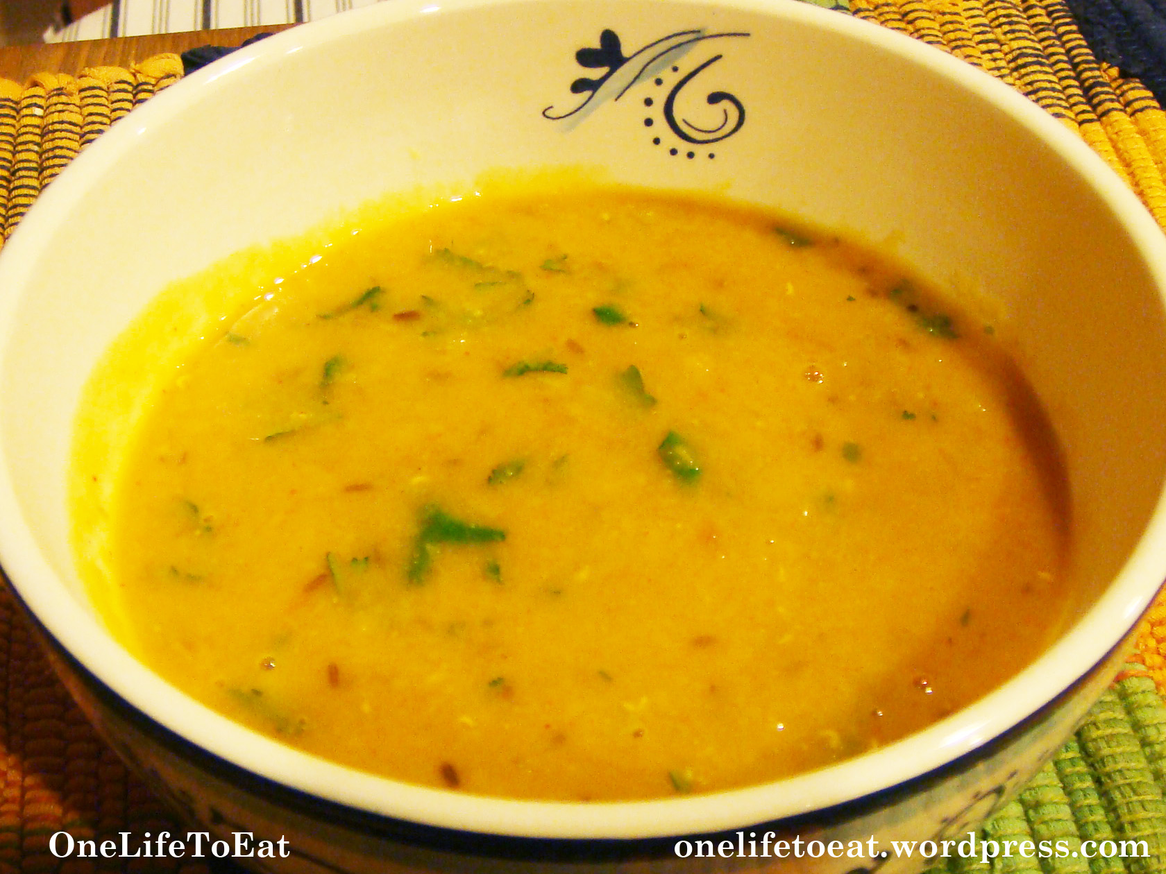 Pressure Cooker Lentil Soup Yellow Daal (Lentils) | One Life to Eat