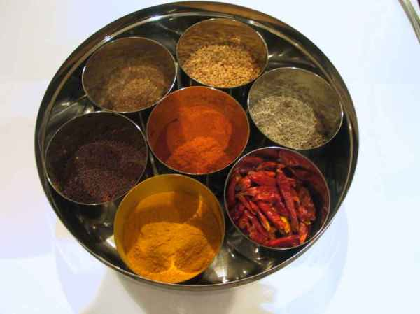Spices are stored as above in any Indian household