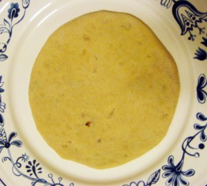 The rolled out stuffed paratha