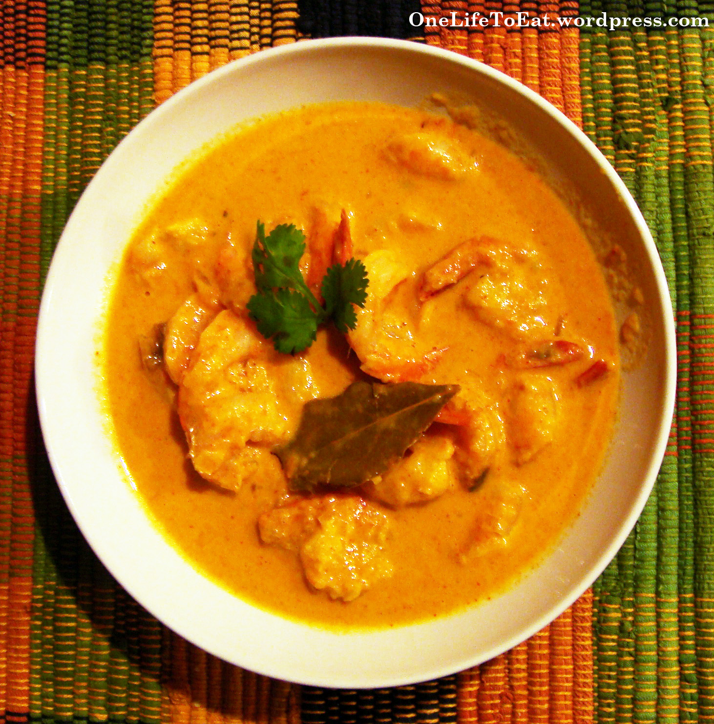 Coconut Shrimp Curry – Indian style | One Life to Eat