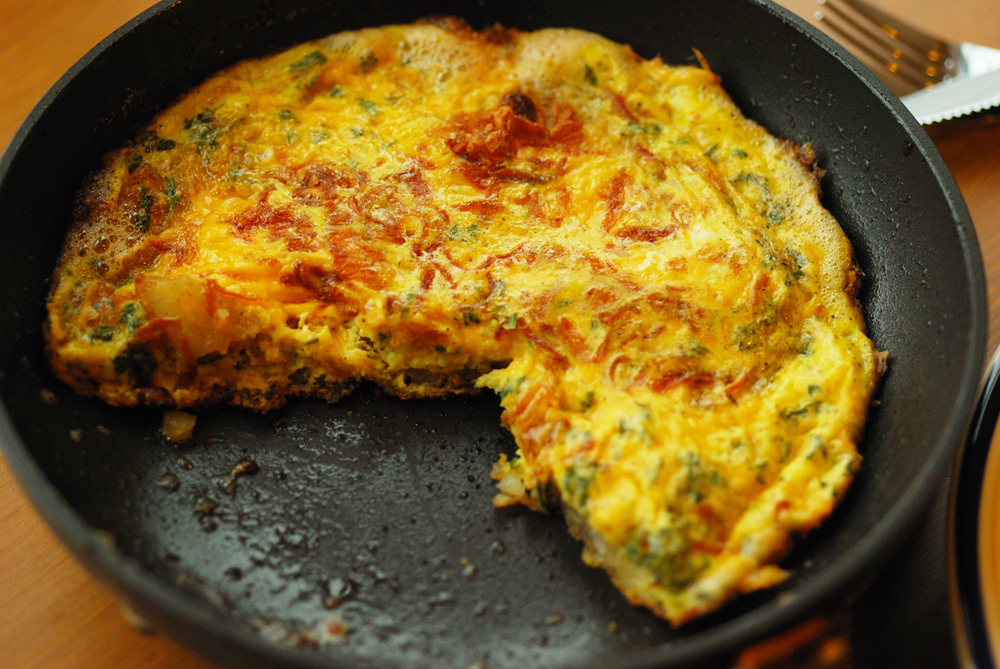 Potato Parsley and Birista Frittata | One Life to Eat