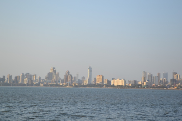 The Mumbai skyline - seen from Marine Drive