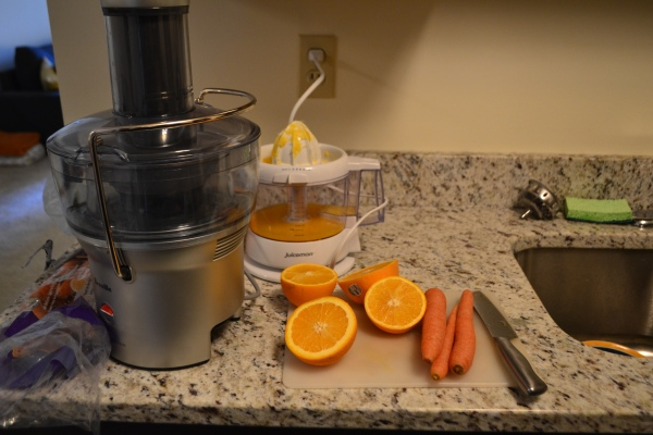 Juicing in my little kitchen