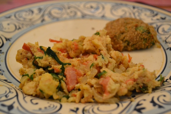 Egg bhurjee - Spiced scrambled eggs